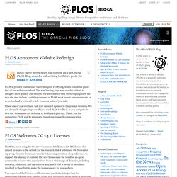The Official PLoS Blog