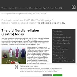 The old Nordic religion today