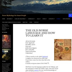 The Old Norse Language and How to Learn It