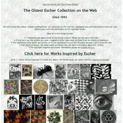 The Oldest Escher Collection on the Web