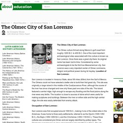 The Olmec City of San Lorenzo