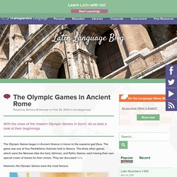 The Olympic Games in Ancient Rome
