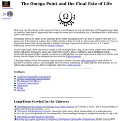The Omega Point and Life in the Universe