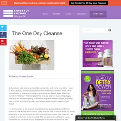 The One Day Cleanse & Kimberly Snyder's Health and Beauty Blog - StumbleUpon