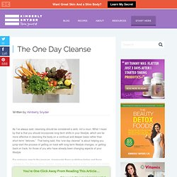The One Day Cleanse & Kimberly Snyder's Health and Beauty Blog