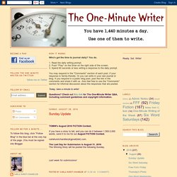 The One-Minute Writer