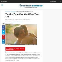 The One Thing Men Want More Than Sex