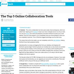 The Top 5 Online Collaboration Tools