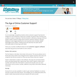 The Age of Online Customer Support!