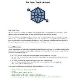 The Open Graph Protocol