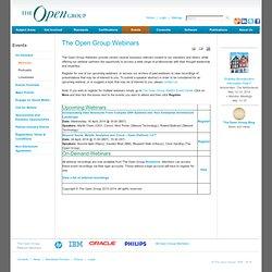 The Open Group Webinars