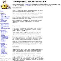 The OpenEEG WARNING.txt file