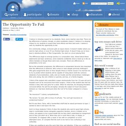 The Opportunity To Fail « Kathleen