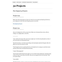 The Original 52 Projects « 52 Projects