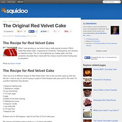 The Original Red Velvet Cake