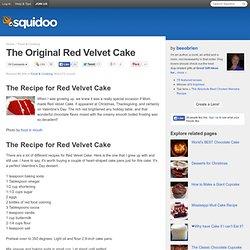 The Original Red Velvet Cake