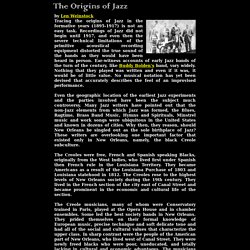 The Origins of Jazz