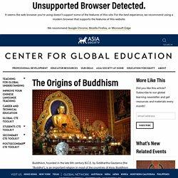 The Origins of Buddhism