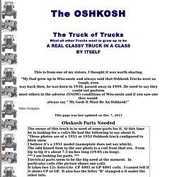 The Oshkosh, The Truck of Trucks