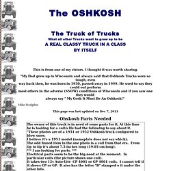 The Oshkosh, The Truck of Trucks