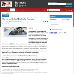 The Ins and Outs of Dealership Financing