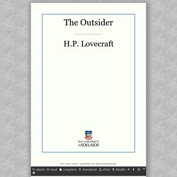 The Outsider by H.P. Lovecraft