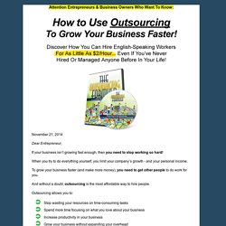The Outsourcing Formula