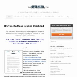 The Overhead Myth