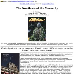 The Overthrow of the Monarchy