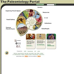 The Paleontology Portal: Home