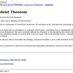 The Pandeist Theorem