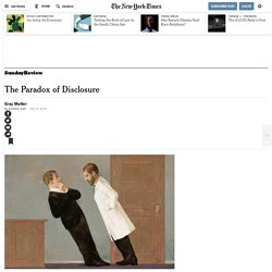 The Paradox of Disclosure