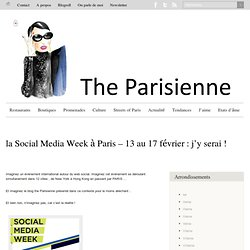 The parisienne dans la Social Media Week