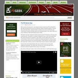 The PE Games App