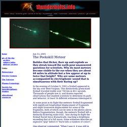 The Peekskill Meteor