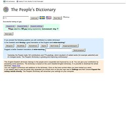 The People's Dictionary