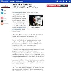 The 35.4 Percent: 109,631,000 on Welfare