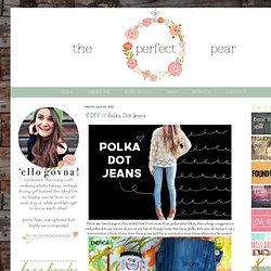 DIY // Polka Dot Jeans
