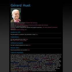 The personal page of Gérard Huet
