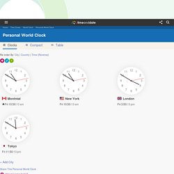 The Personal World Clock