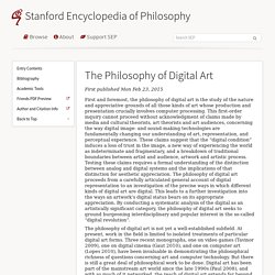 The Philosophy of Digital Art