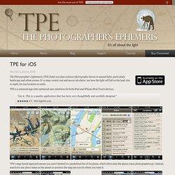 The Photographer's Ephemeris: TPE for iOS