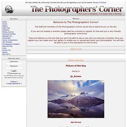 The Photographers Corner: News