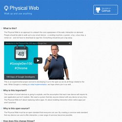 The Physical Web