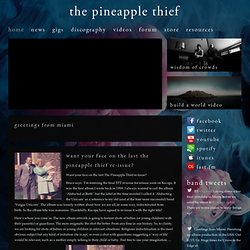 Home | The Pineapple Thief