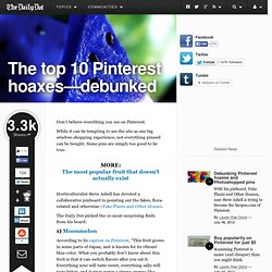 Top 10 Pinterest Hoaxes