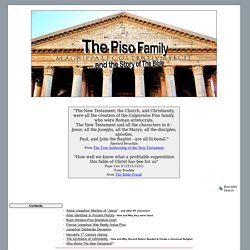 piso family new testament