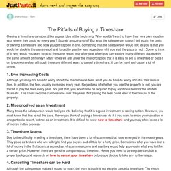 The Pitfalls of Buying a Timeshare