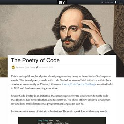 The Poetry of Code