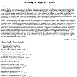 The Poetry of Langston Hughes